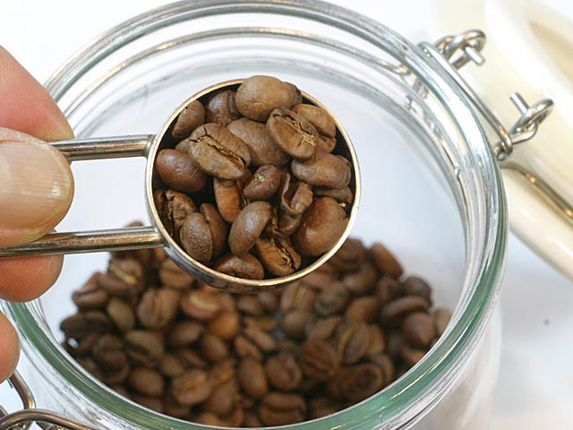 焙煎後のコーヒー豆